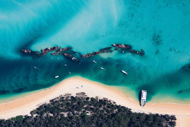 Tangalooma Wrecks, NSW.