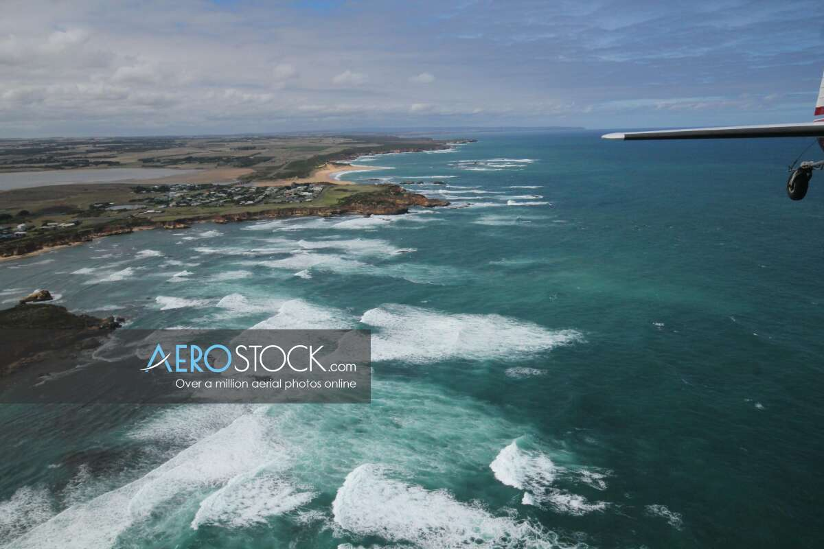 Panoramic aerial photo of Corangamite taken on March 24th, 2014 12:36.