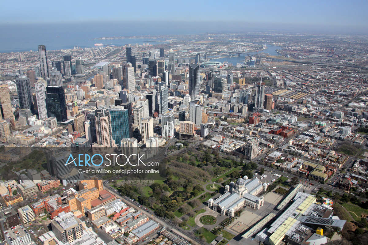 Aircraft stock image of Melbourne taken on the August 30th, 2006 11:40