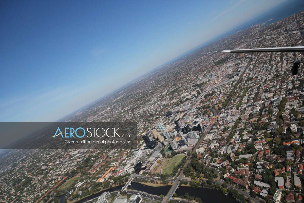 Panoramic aerial photo of Melbourne taken on March 20th, 2014 14:46.