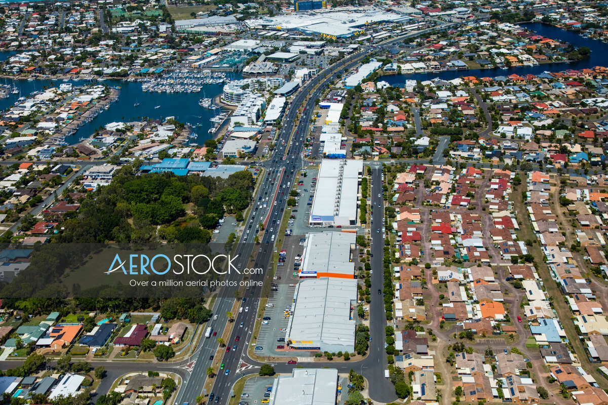 Panoramic aerial photo of Sunshine Coast taken on February 20th, 2019 13:42.