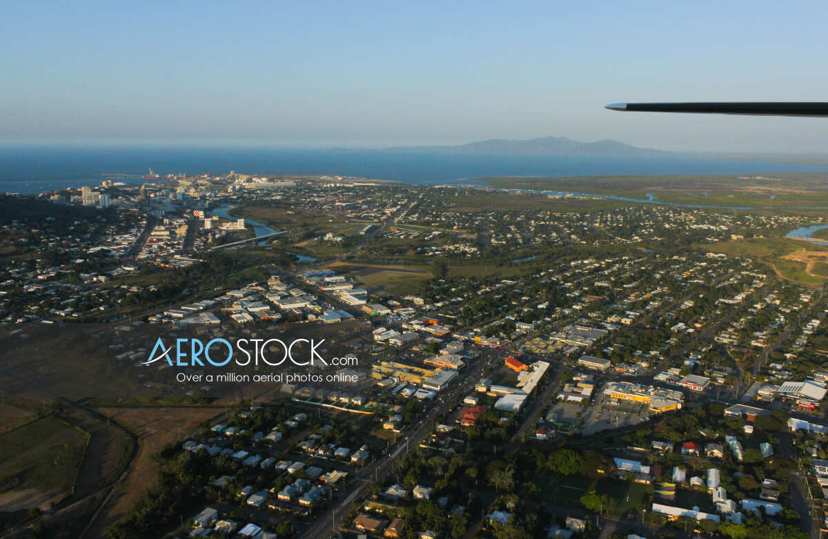 Panoramic aerial photo of Townsville taken on August 27th, 2012 17:25