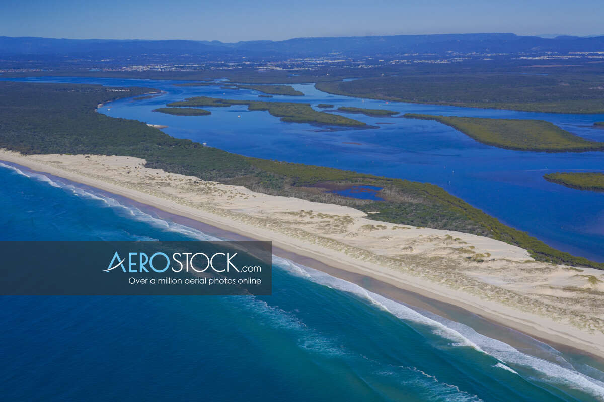 Discounted panoramic aerial photo of Southern Moreton Bay Islands, 4208.