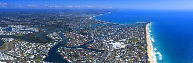 Mooloolaba Aerial Panorama