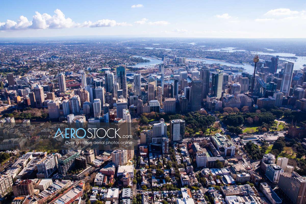 Sky-high image of Sydney taken on the June 12th, 2017 13:11.
