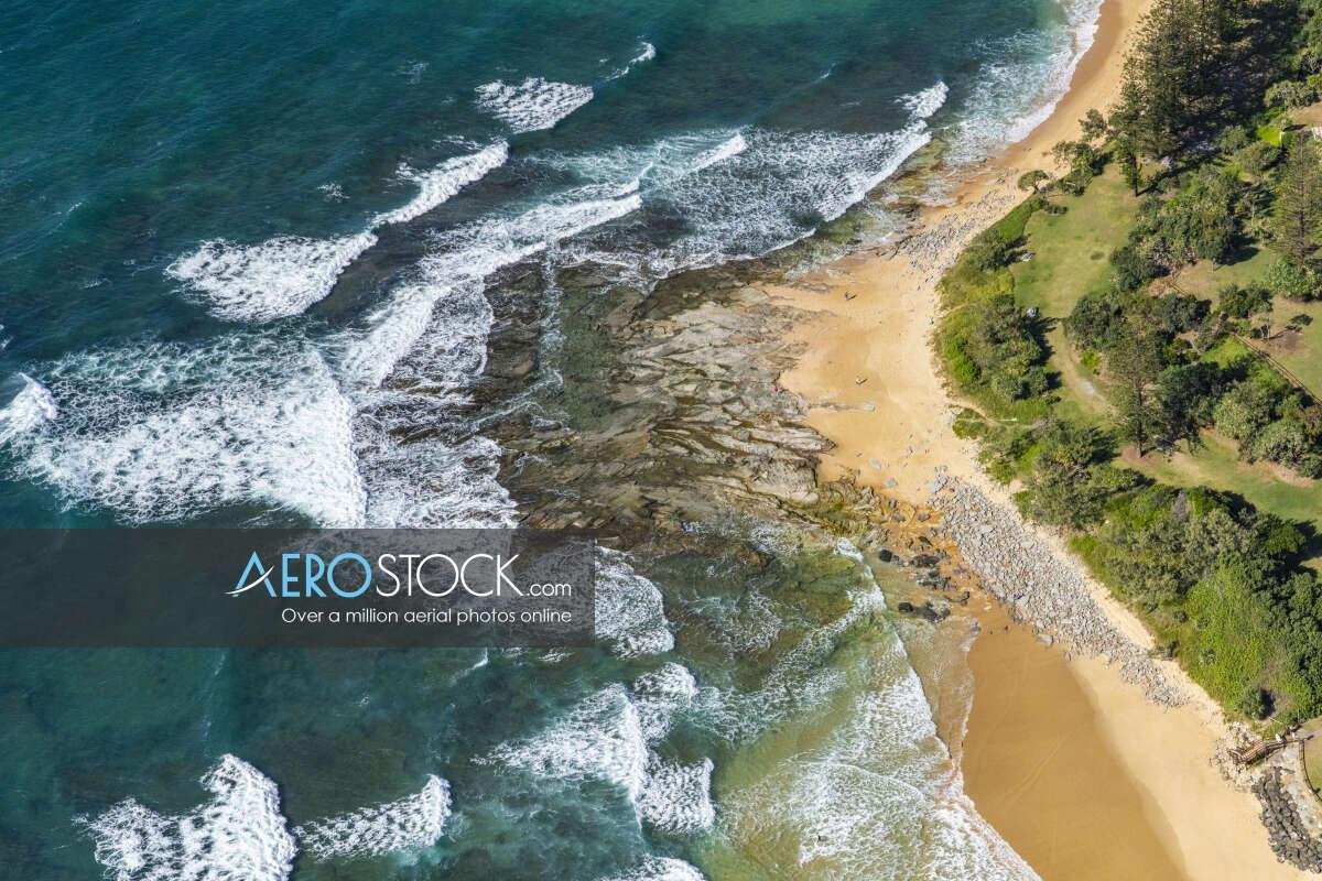 Cost effective image of Dicky Beach, Queensland.