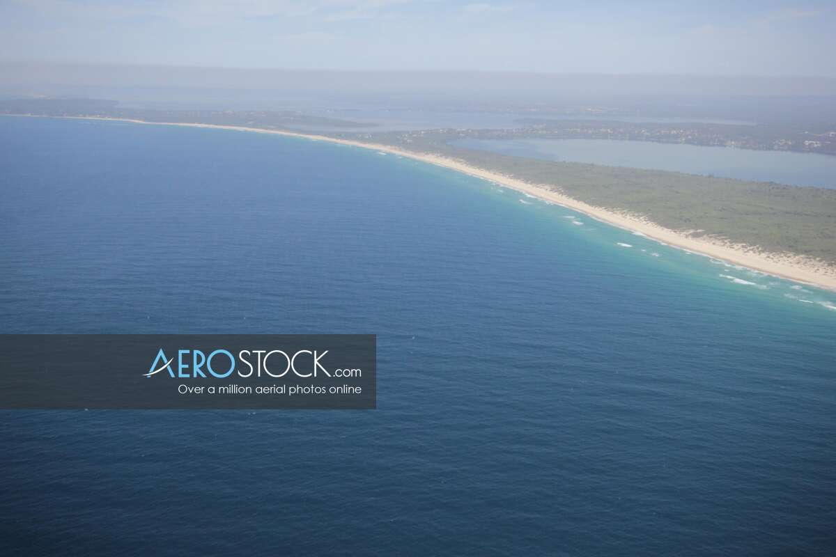 High definition panoramic aerial photo of Central Coast.